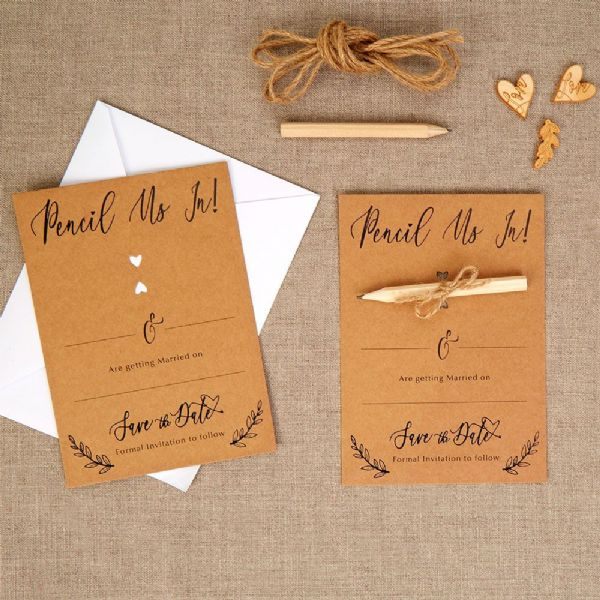 Hearts & Krafts Save The Date Cards (10)